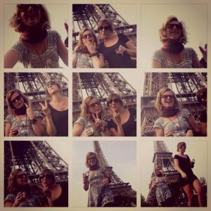 Me and aleta eiffel tower